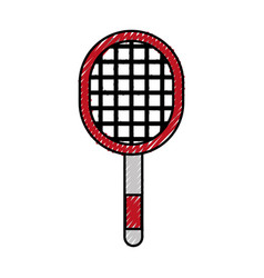 Scribble sport racket cartoon vector