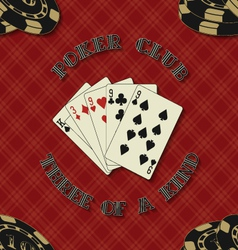 Seamless background with poker cards for vector image