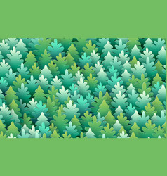 seamless fir-tree pattern happy new year and vector image