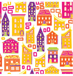seamless house pattern new-05 vector image