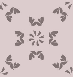 Seamless pattern with hearts and birds romantic vector