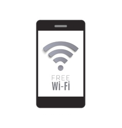 Smart phone with Free Wi-Fi symbol vector