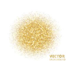 Sparkling background golden glitter explosion vector