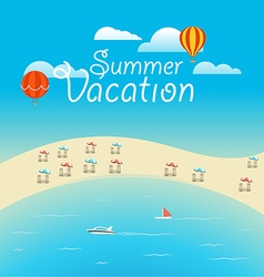 Summer season concept Summer vacation vector