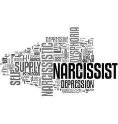The depressive narcissist text background word vector