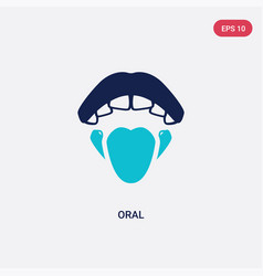 Two color oral icon from dentist concept isolated vector