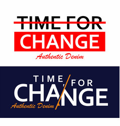 type slogan time for change vector image