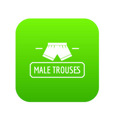 Underpant icon green vector