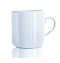 Vector illustration of realistic cool tea cup over vector