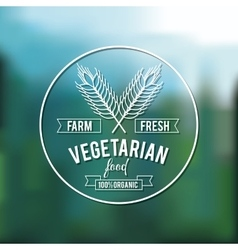 vegetarian food design vector image