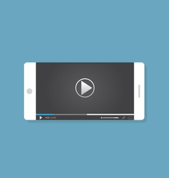 Video on phone vector