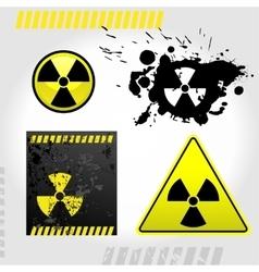 Warning radiation signs vector