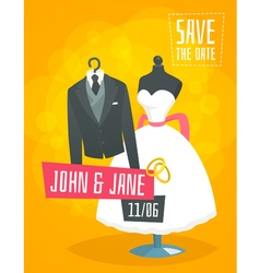 Wedding invitation card poster flyer concept vector