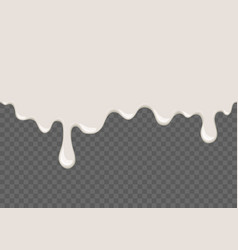 White dripping slime seamless element vector