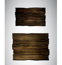 wooden signboard plaqu vector image