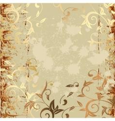 grunge pattern gold vector image vector image