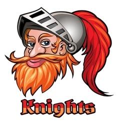 Knight in a Helmet Emblem vector image