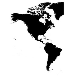 land silhouette map of americas north and south vector image vector image