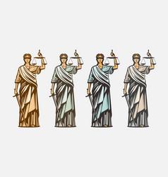 lawsuit judge symbol lady justice judgment vector image vector image