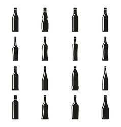 Set of bottles silhouettes vector image vector image