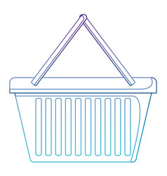 shopping basket icon in degraded purple to blue vector image vector image