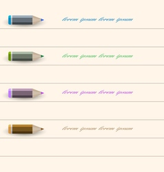 Stylized pencil design for infographics business vector image vector image