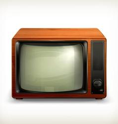 TV set retro vector image vector image