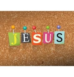 Jesus Concept vector image
