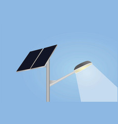 solar panel and street lights vector image vector image