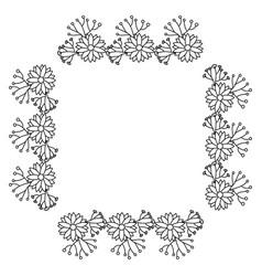square frame deoration floral vector image