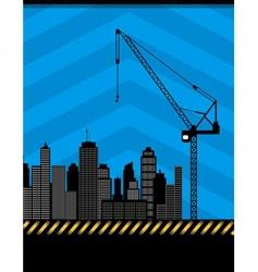 urban construction illustration vector image vector image