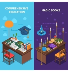Books And Education Banners Set vector image vector image