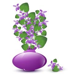 Bunch of wild violet vector