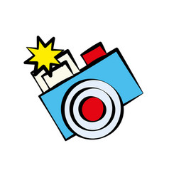 cartoon photo camera image vector image