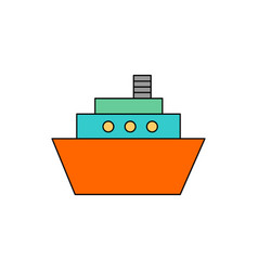 flat ship icon vector image
