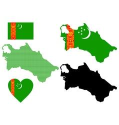 map of Turkmenistan vector image vector image