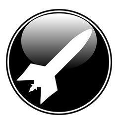 Military rocket button vector image vector image
