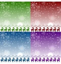 set of christmas reindeers pattens vector image