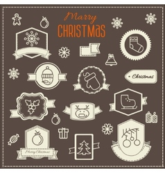 Christmas decoration design elements collection vector image