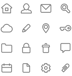 icons for simple minimalist design vector image vector image