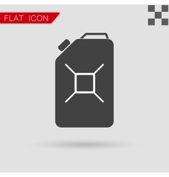 Jerrycan oil icon Flat Style with red vector image vector image