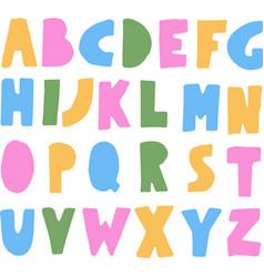 simple colorful kids abc alphabet vector image