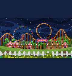 a circus scene at night vector image