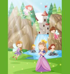 A princess in fantasy land vector