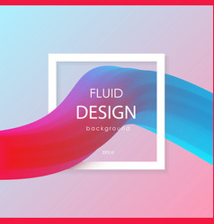 abstract 3d liquid colorful shapes liquid color vector image