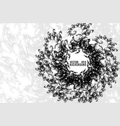 abstract black wrinkle transform spiral effect vector image