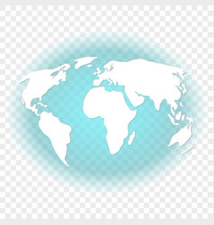 Abstract image of the earth with white continents vector