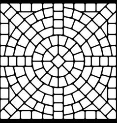 Ancient mosaic ceramic tile pattern vector