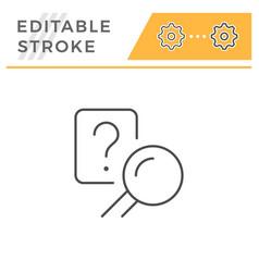 answer search editable stroke line icon vector image