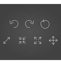 Arrows icons draw effect vector